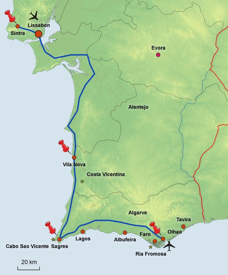 Flughafen Algarve Karte.Highlights Des Südens Portugals Küste Von Lissabon Bis Faro Jetzt